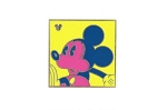Yellow Completer Neon Mickey Pin