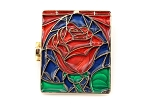 Rare Belle Stained Glass Rose Book