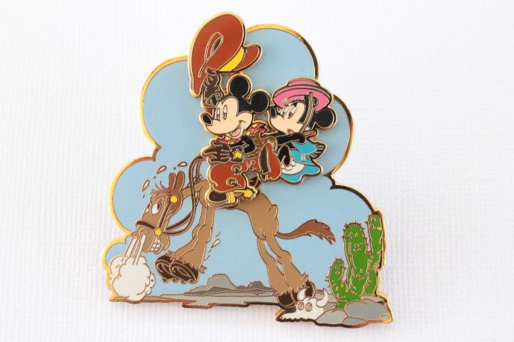 Rare Western Mickey and Minnie on Horse