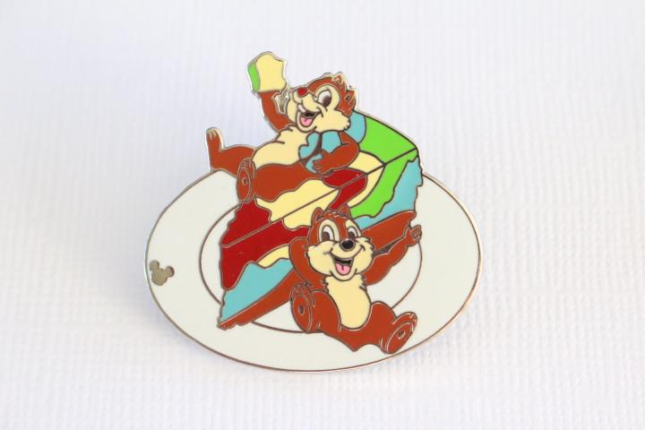 Chip and Dale Tie Dyed Cheesecake