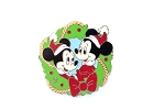 Mickey's Nephews Morty and Ferdy - Christmas Wreath