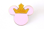 Princess Icon with Glitter Crown