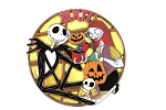DSF Stained Glass Jack and Sally Halloween