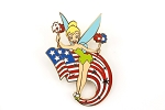Tinker Bell with US Flag Sparklers