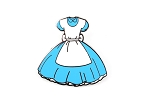 Blue Dress Alice in Wonderland