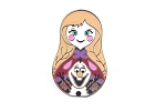 Anna and Olaf - Nesting Doll