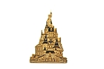 Beauty and the Beast's Gold Castle Cast Lanyard Pin