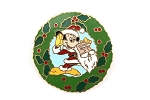 Vintage Santa Mickey Wreath Christmas Pin