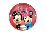 Happy Anniversary Button Couple Mickey Minnie