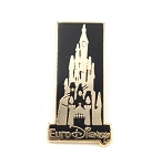 Gold and Black Disney Castle Paris Euro