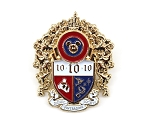 10 Years Pin Trading Society Golden Castle Crest