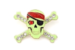 Jeweled Pirate Skull and Crossbones