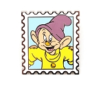 Dopey Dwarf Stamp Pin Snow White
