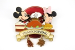 Mickey and Minnie Thanksgiving Couple Jumbo LE 500