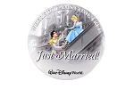 Just Married Cinderella Prince Charming Castle WDW Button
