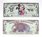 Disney Dollar $1 Epcot 2000 Mickey Spaceship Earth