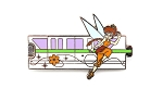 Fawn Green Monorail Gold Card Pixie Hollow