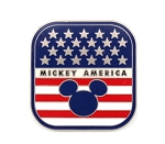 Mickey America Patriotic Flag Pin