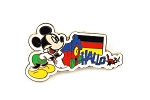 German Mickey Hallo Cuckoo Clock Flag