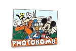 Goofy PhotoBombs Mickey and Donald