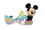 Mickey Holding hinged Easter Egg with Chick