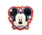 Patriotic Mickey Mouse with Stars