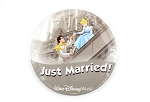 Super Rare Just Married WDW Cinderella Prince Charming Button