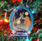 Lady and the Tramp Christmas Ornament Anniversary Cast Member