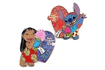 2 pc Valentines Day set - Lilo and Stitch