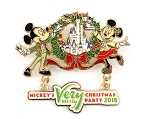 Mickey and Minnie Castle Dangle Verry Merry Christmas 2018