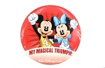 RunDisney Marathon Mickey and Minnie Magical Triumph Button Retired