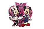 1950's Mickey Holding Minnie's Hand Glitter Heart