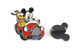 Mickey and Pluto Driving to Disney