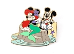 Minnie and Mickey as Ariel and Eric Little Mermaid