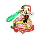 (AP) Minnie Holiday Ornament DLR 3D Ribbon
