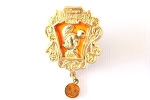 Golden Flapper Minnie Halloween Tokyo Dangle