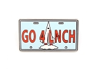 Attraction Vehicle Mission Space License Plate GO 4 LNCH
