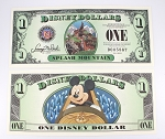 Disney Dollar $1 Splash Mountain 2014 Mickey Mouse