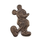 Old Sculpted Metal Mickey Mouse