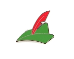 Peter Pan's Green Hat with Red Feather