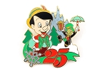 Pinocchio and Jiminy Cricket Christmas 25th Anniversary