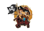 Chip and Dale Pirate's Lair 3D Flag