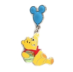Winnie the Pooh Hanging from Balloon Dangle