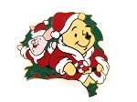 Winnie the Pooh and Piglet Christmas Time Wreath