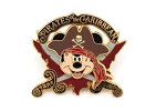 3D Mickey Pirates of the Caribbean with Swords