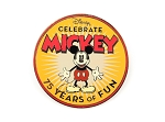 Celebrate Mickey 75 Years Promo Pin