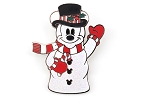 Glitter Snowman Mickey Mouse Christmas