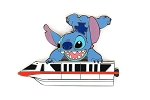 Rare Stitch on Red Monorail LE WDW