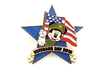 Mickey Veterans Day with Flag