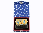 WDI 50th Anniversary Sorcerer Mickey Book Pin w/ Box